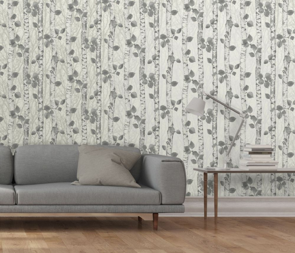 Fine Decor Sparkle Birchwood FD41474 Wallpaper